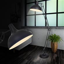 vidaXL Sort standerlampe i Anglepoise-stil
