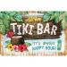 Tiki Bar Kilpi 20x30cm