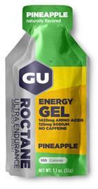 GU Energy Roctane urheiluravinne Pineapple 32g , vihreä/hopea