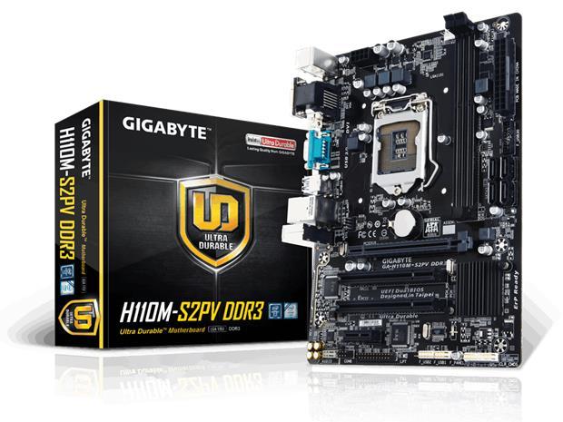 Gigabyte GA-H110M-S2PV DDR3, emolevy