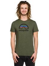 Patagonia Arched Logo Cotton/Poly T-paita urbanist green / vihreä Miehet