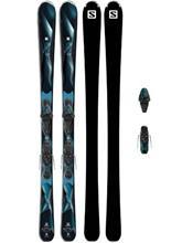 Salomon Astra 154 + Lithium 10 W L80 2017 black / blue / musta Naiset