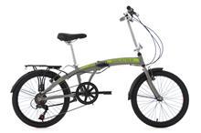 "Aluminium Folding Bike 20"" Quickfold Grey KS Cycling"
