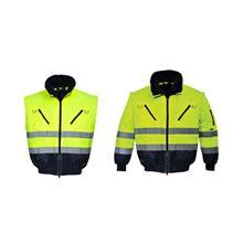 Lyhyt takki huomiovärityksellä NEVADA Pesso HI-VIS; M keltainen
