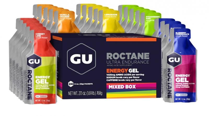 GU Energy Roctane Gel Mix urheiluravinne 24 x 32 g , monivärinen