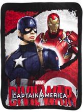 Marvel Captain America Civil War Filt Fleecefilt - Iron man