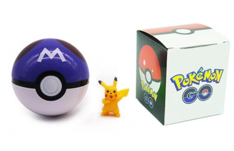 Pokemon Go - Pokeball - Master Ball + Figur