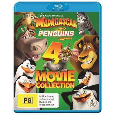 Madagascar 1-3 + Penguins Of Madagascar (Blu-Ray), elokuva