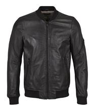 JUNK de LUXE 'Bomber' Leather Jacket - Black