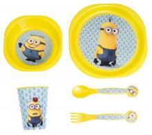 Minions Breakfast Set (mug, cutlery, cup, plate)