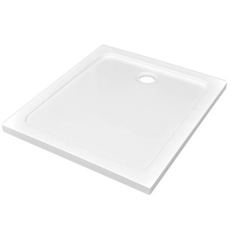 vidaXL 141450, suorakulmainen valkoinen ABS suihkualusta 80 x 90 cm