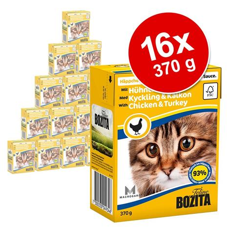 Bozita Chunks in Gravy 16 x 370 g - katkarapu