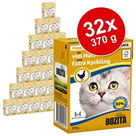 Bozita Chunks in Jelly -säästöpakkaus 32 x 370 g - rapu