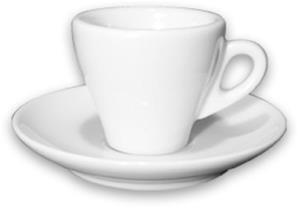 Ancàp Torino espressokuppi lautasella