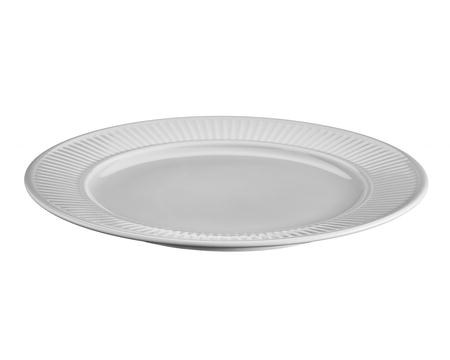 Pillivuyt Plissé tallrik flat ljus grå - 26 cm