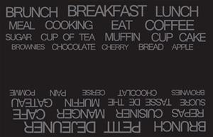 Galzone Tabletti Tekstillä Musta 44x28,5 cm