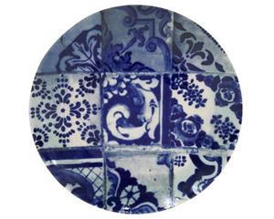 Lisboa tallrik flat kakel blå - 29 cm
