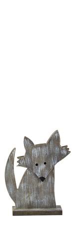 KJ Collection Koriste Kettu Harmaa 17x13,5x5 cm