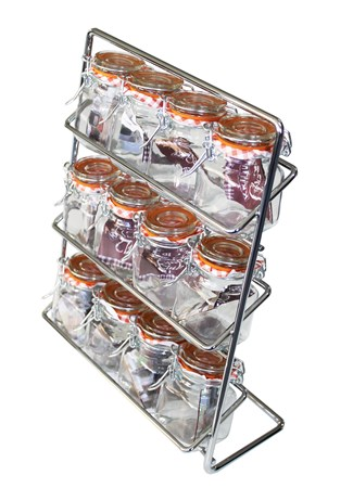 Hahn Kitchenware Pisa 12 Maustehylly + kilner purkit Kromi