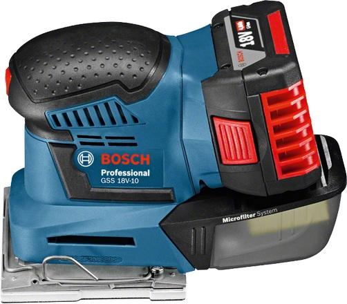 Bosch GSS 18V-10 Professional Solo 18V (ilman akkua ja laturia) (06019D0202), tasohiomakone