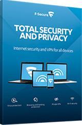 F-Secure Total Security And Privacy (1 vuosi 5 laitetta), tietoturvaohjelmisto