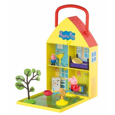 Pipsa Possu, kannettava talo ja puutarha -leikkisetti