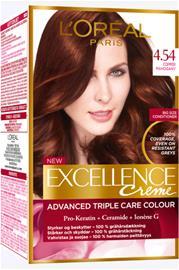 L'Oréal Paris Excellence 4.54 Copper Mahogany Tummanruskea Mahonkikupari