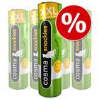Cosma Snackies XXL -säästöpakkaus - vaalea kala: 5 x 18 g