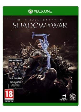 Middle Earth: Shadow of War, Xbox One -peli