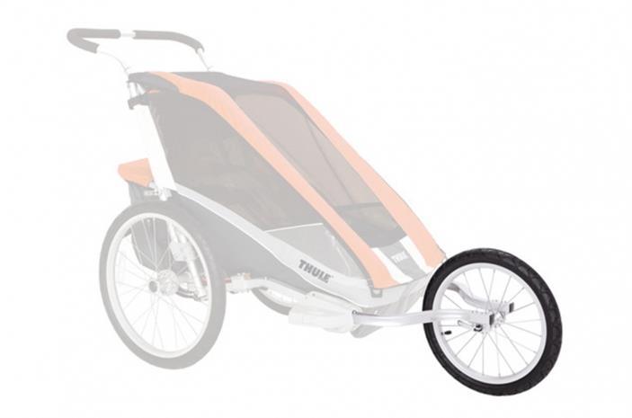 Thule Chariot 2 , musta/hopea