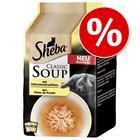 Sheba Classic Soup Pouches -säästöpakkaus 32 x 40 g - tonnikalafileet