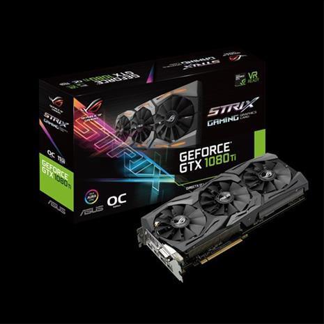 ASUS GeForce GTX 1080 Ti Gaming OC 11 GB, PCI-E, näytönohjain