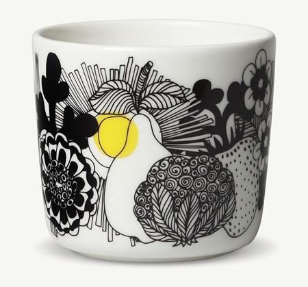 Marimekko Oiva/Siirtolapuutarha, kahvaton kahvikuppi 2 dl