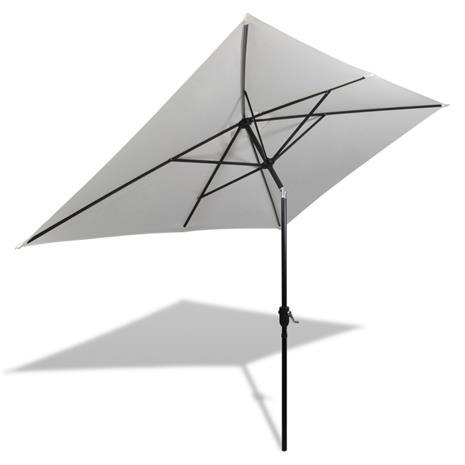 vidaXL Neliön Muotoinen Aurinkovarjo 200 x 300 cm Valkoinen