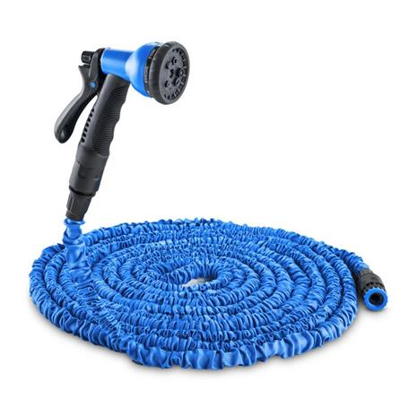 Waldbeck Flex 30 joustava puutarhaletku 8 toimintoa 30 m sininen