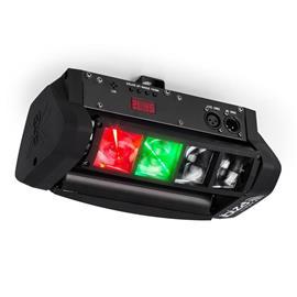 ibiza LED8-Mini Mini-Spider LED-valoefekti DMX sis. kiinnitysosan