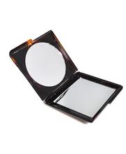 Ibero ruskea kaksiosainen taittuva peili