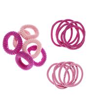 Ibero 16 kpl lasten vaaleanpunainen hiuslenkki