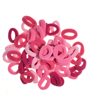 Ibero 60 kpl lasten vaaleanpunainen hiuslenkki
