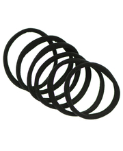 Ibero 6 kpl musta kangas hiuslenkki