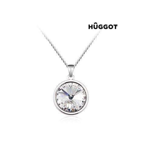HuggotBalance Rhodiumpläterat hänge med Swarovski kristaller 40 cm