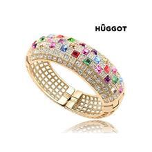 Huggot Elegance 18K Roseguldpläterat armband med zirkonier O 6 cm