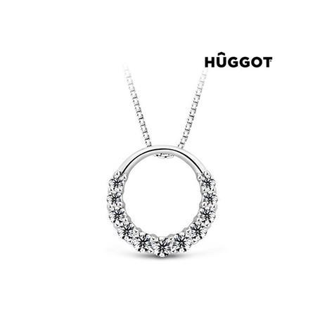 Huggot Gala Hänge i 925 sterlingsilver med zirkonier och Swarovski kristaller 45 cm