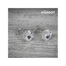 Huggot Winter Rhodiumpläterade örhängen med Swarovski kristaller