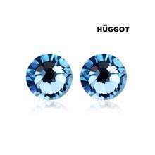 Huggot Sapphire Rhodiumpläterade örhängen med Swarovski kristaller