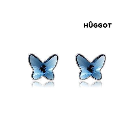 Huggot Wendy Rhodiumpläterade örhängen med Swarovski kristaller
