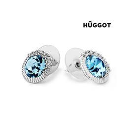 Huggot Sky Rhodiumpläterade örhängen med Swarovski kristaller