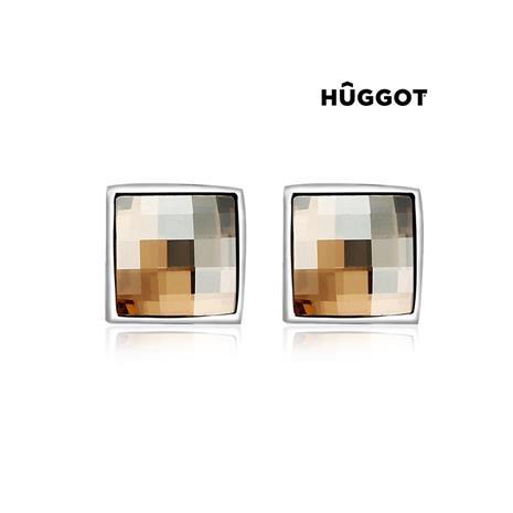 Huggot Autumn Rhodiumpläterade örhängen med Swarovski kristaller