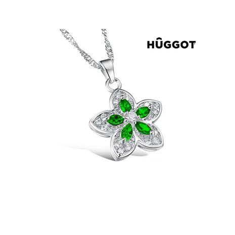 Huggot GreenFlower HängeI rostfritt stål med zirkonier 45 cm