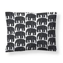 Finlayson Elefantti tyynyliina musta-valkoinen